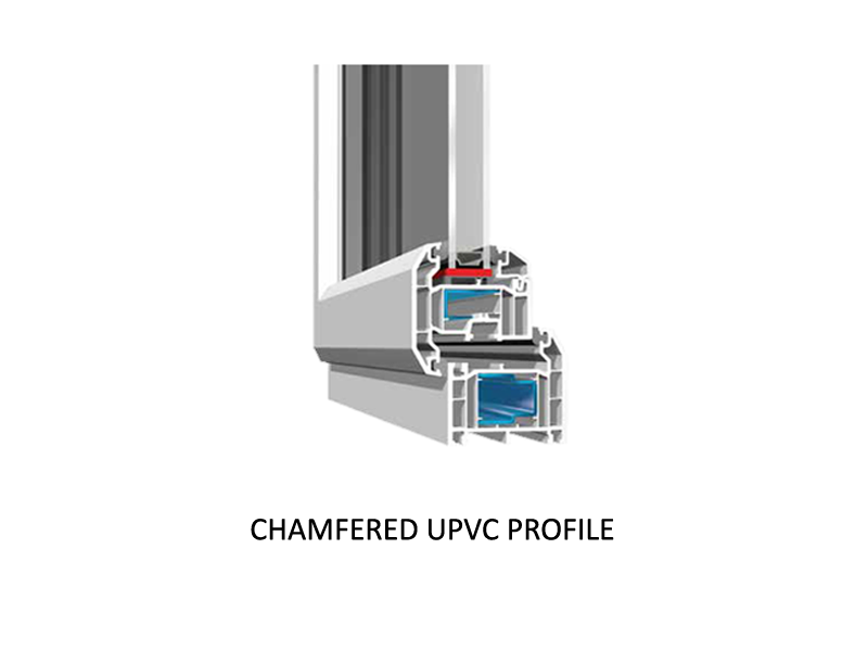 Chamfered uPVC Profile