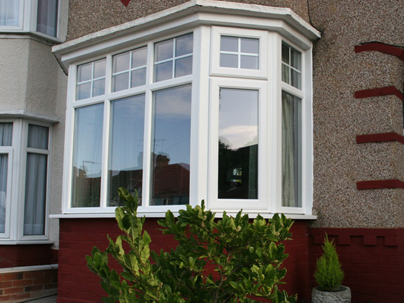 Victorian / Georgian glazing in a uPVC bay window