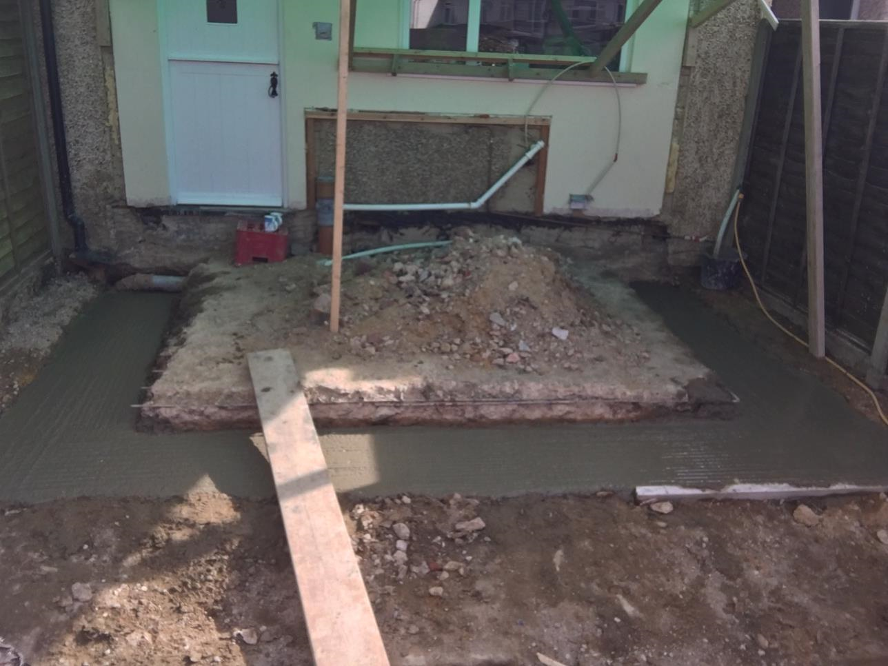 Removal of conservatory - new footings dug and filled