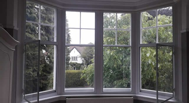 Bay window secondary glazing