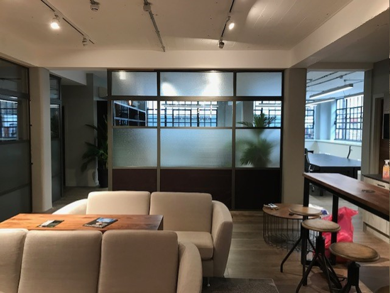 Heritage glass office partition