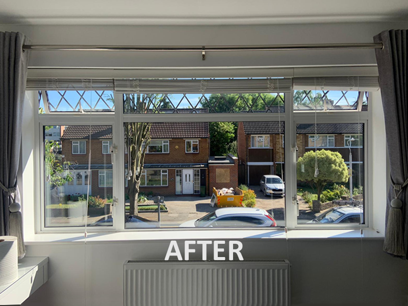 Changed glass after