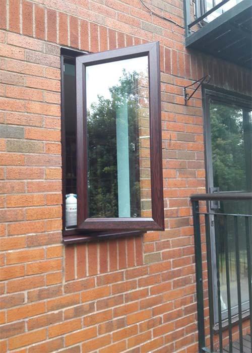 Wooden style uPVC Window