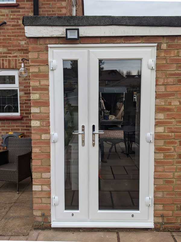 UPVC door with side window